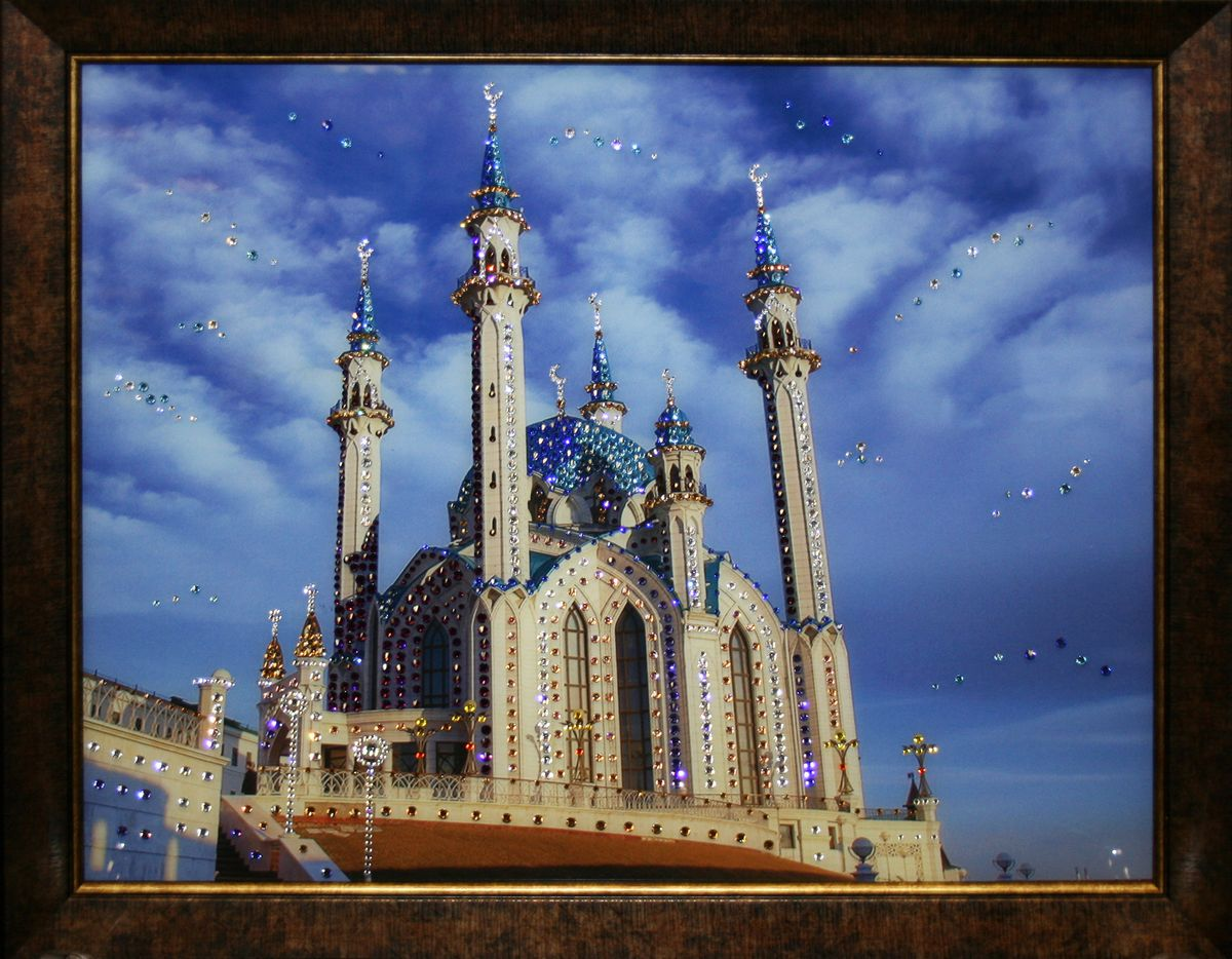 1543 Картина Сваровски МЕЧЕТЬ КУЛ-ШАРИФ1543стекло, хрусталь, алюминий. 57х47