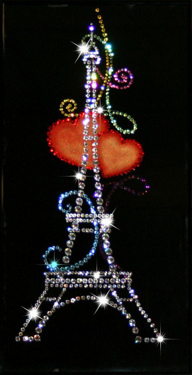 1159 Картина Сваровски Из Парижа с любовью1159стекло, хрусталь, алюминий. 20х40