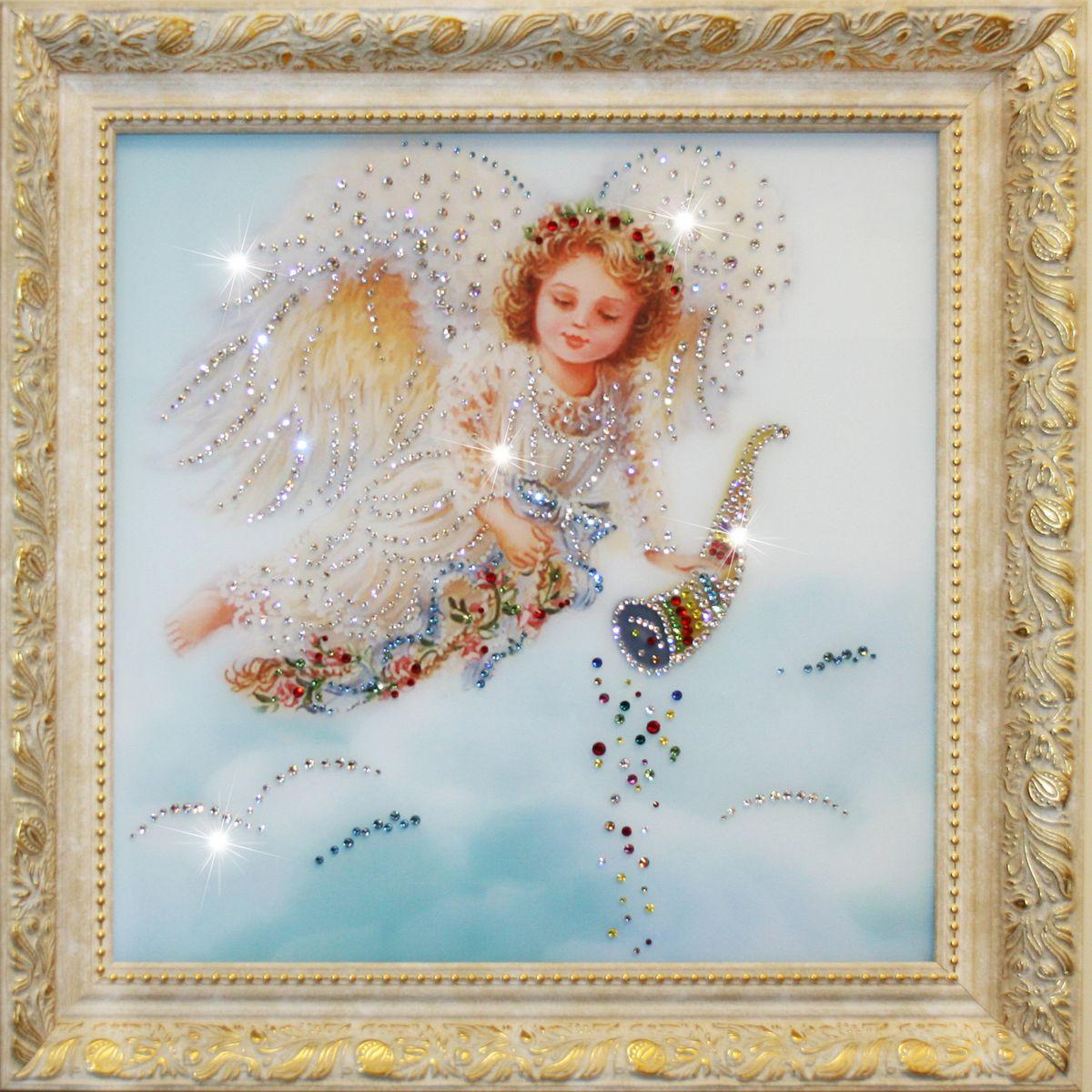 1360 Картина Сваровски Ангел Изобилия1360стекло, хрусталь, пластик. 50х50