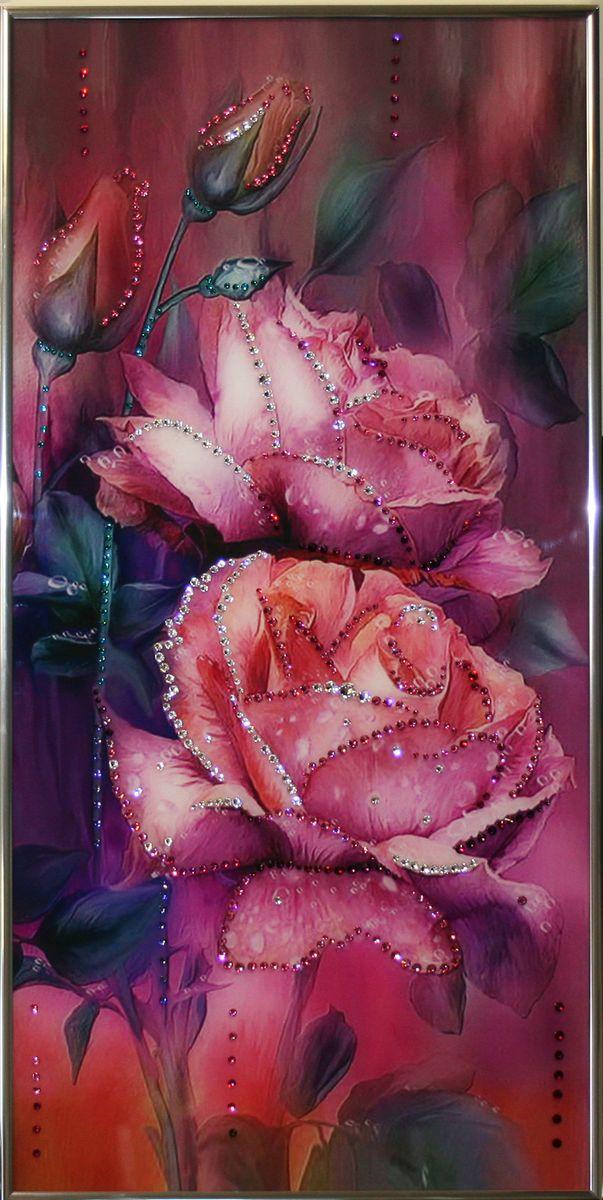 1491Картина Сваровски Любовь1491стекло, хрусталь, алюминий. 30х60