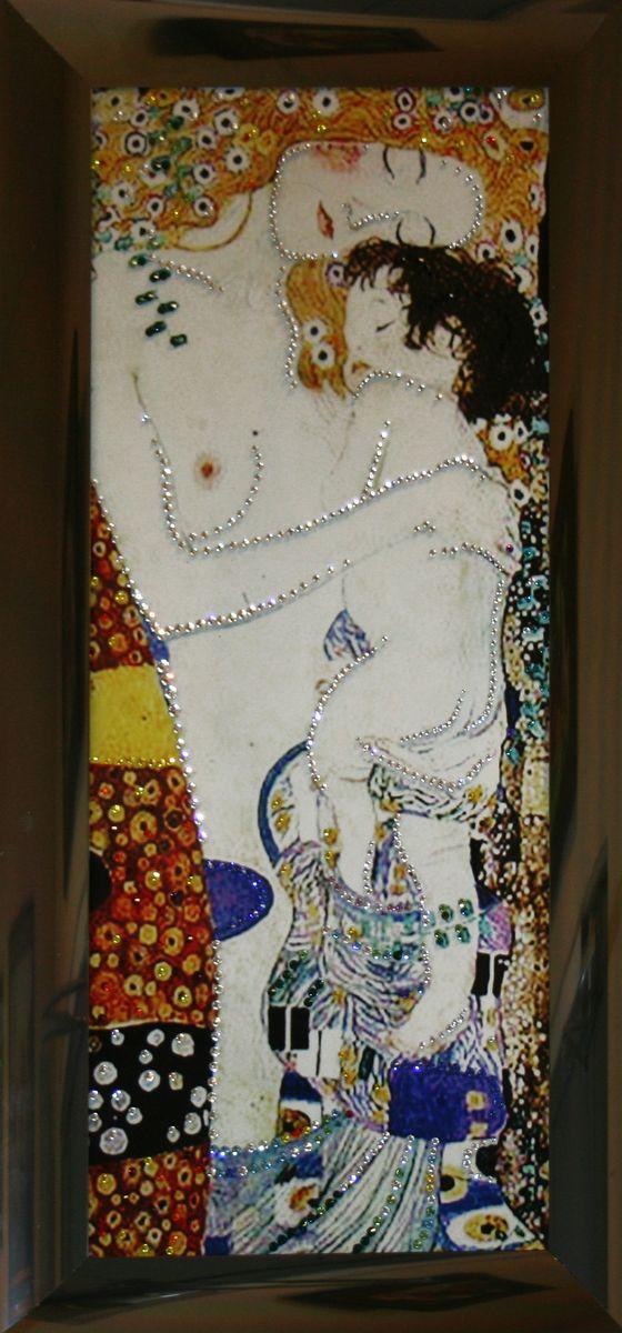 1492Картина Сваровски Материнская любовь1492стекло, хрусталь, алюминий. 33х68