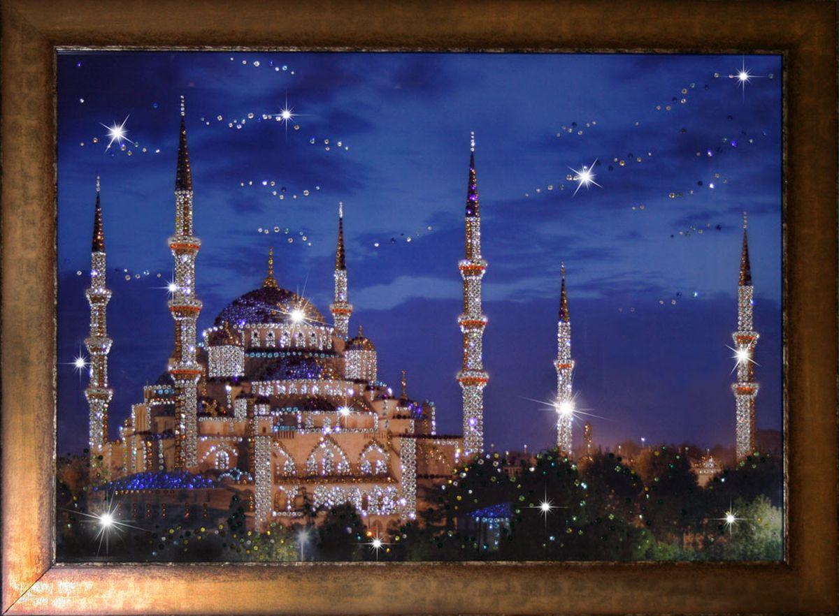 1514Картина Сваровски Мечеть 50х401514стекло, хрусталь, алюминий. 57х47