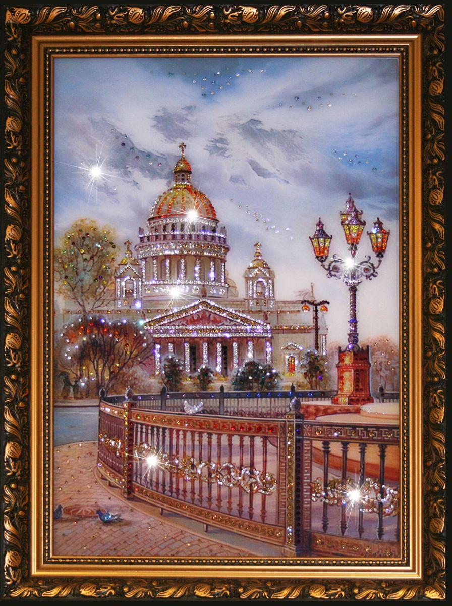 1165 Картина сваровски Исаакиевский собор в Санкт-Петербурге1165стекло, хрусталь, алюминий. 40х30