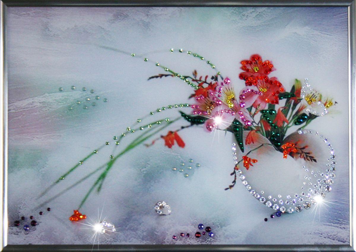 1256 Картина Сваровски Ракушка1256стекло, хрусталь, алюминий. 30х20