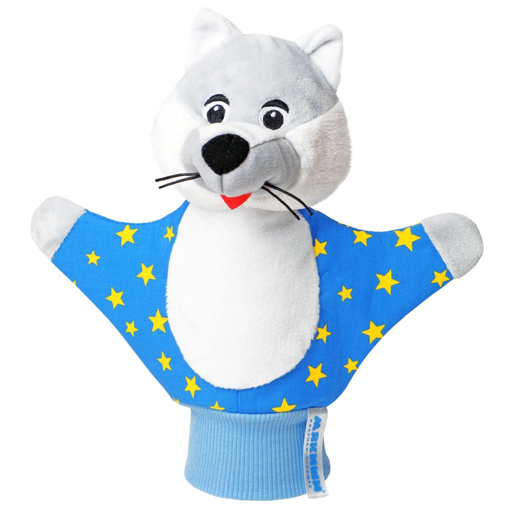 Мягкая игрушка на руку Волк, 25 см, в цветовом ассортименте
