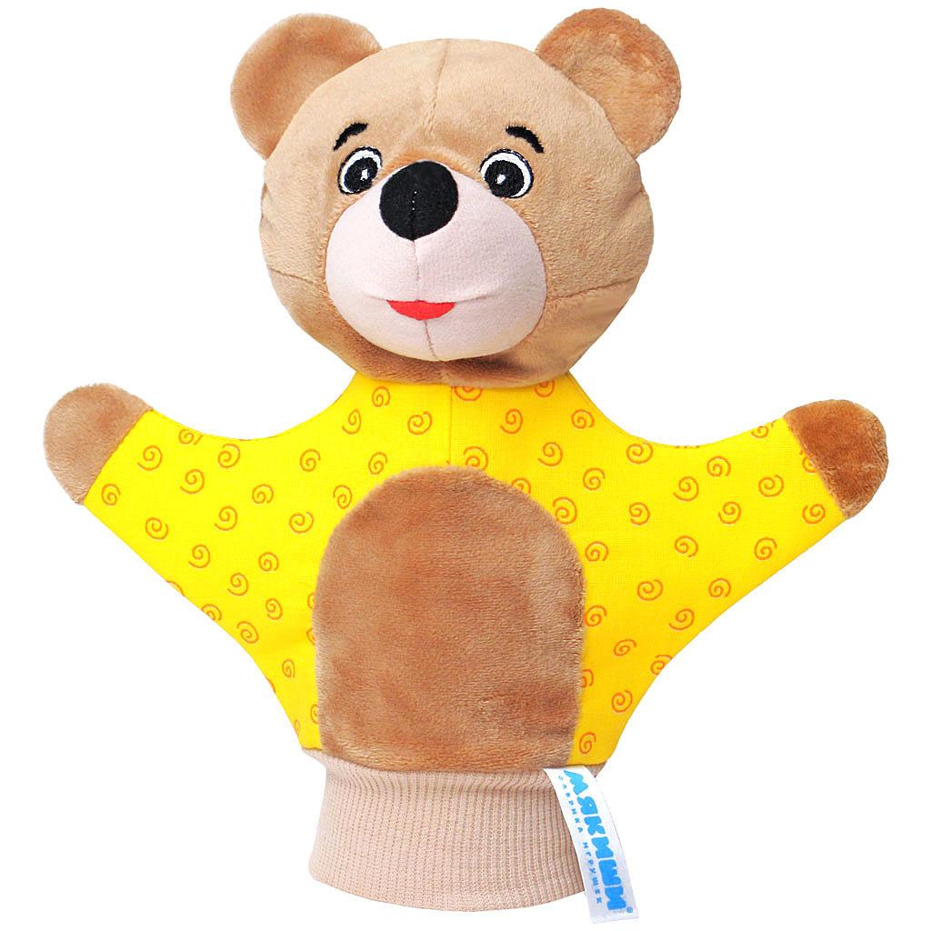 Мягкая игрушка на руку Мишка , 22 см, в ассортименте, Мякиши, Кукольный театр  - купить со скидкой