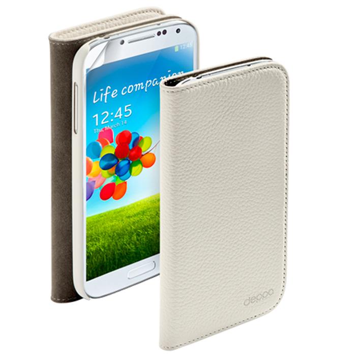 Deppa Wallet Cover чехол для Samsung Galaxy S4, White84006Чехол Deppa Wallet Cover для Samsung Galaxy S4 предназначен для защиты корпуса смартфона от механических повреждений и царапин в процессе эксплуатации. Имеется свободный доступ ко всем разъемам и кнопкам устройства. В комплект также входит защитная пленка из трехслойного японского материала PET.