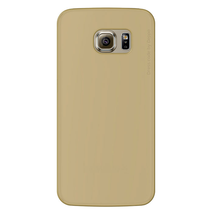 Deppa Sky Case чехол для Samsung Galaxy S6 Edge, Gold deppa для samsung galaxy s6 edge глянцевая
