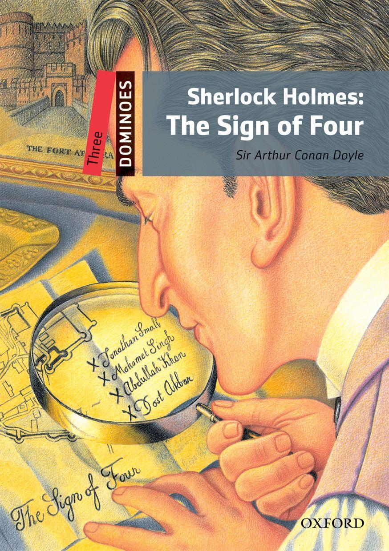 DOMINOES 3 SHERLOCK HOLMES:SIGN OF 4 PACK NE dominoes 1 blue diamond ne