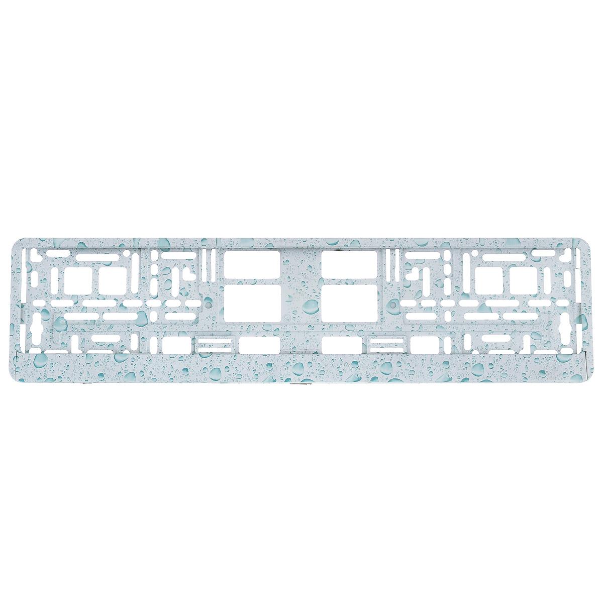 Рамка под номер Пузыри, цвет: голубойЗ0000014146Рамка Пузыри не только закрепит регистрационный знак на вашем автомобиле, но и красиво его оформит. Основание рамки выполнено из полипропилена, материал лицевой панели - пластик.Она предназначена для крепления регистрационного знака российского и европейского образца, декорирована принтом. Устанавливается на все типы автомобилей. Крепления в комплект не входят.Стильный дизайн идеально впишется в экстерьер вашего автомобиля.Размер рамки: 53,5 см х 13,5 см. Размер регистрационного знака: 52,5 см х 11,5 см.