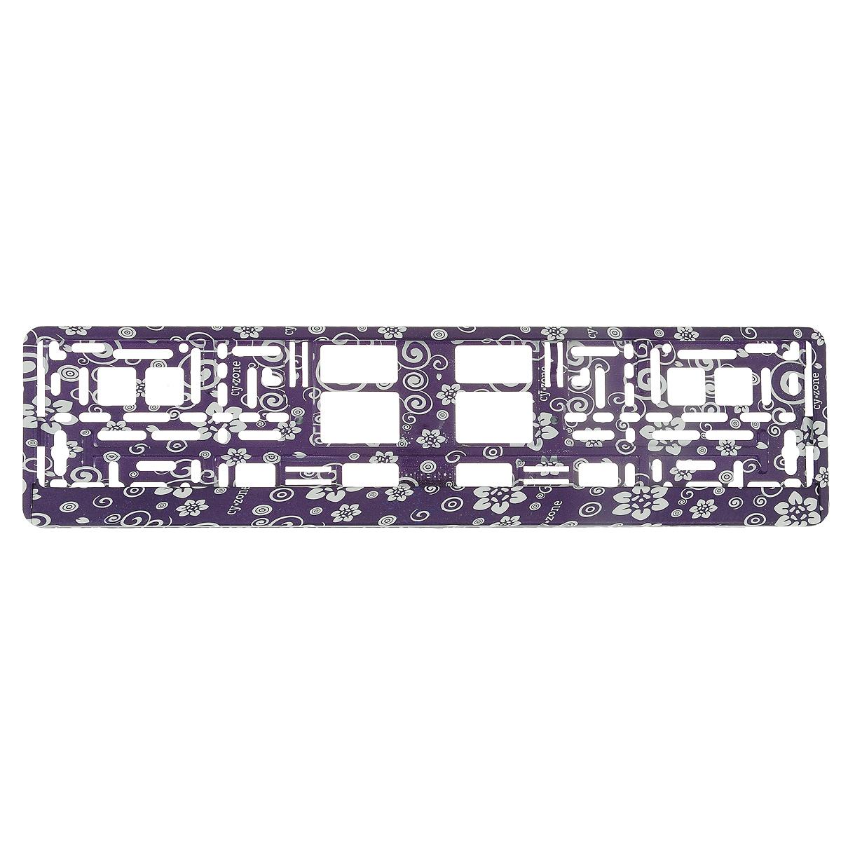 Рамка под номер Цветы, цвет: фиолетовыйЗ0000014150Рамка Цветы не только закрепит регистрационный знак на вашем автомобиле, но и красиво его оформит. Основание рамки выполнено из полипропилена, материал лицевой панели - пластик.Она предназначена для крепления регистрационного знака российского и европейского образца, декорирована принтом. Устанавливается на все типы автомобилей. Крепления в комплект не входят.Стильный дизайн идеально впишется в экстерьер вашего автомобиля.Размер рамки: 53,5 см х 13,5 см. Размер регистрационного знака: 52,5 см х 11,5 см.