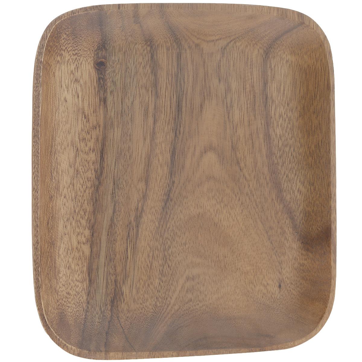 Блюдо Green Way Виолла, 30,5 см х 30,5 см х 2,5 смWD-1201HK1Квадратное блюдо Green Way Виолла выполнено из высококачественного дерева. Блюдо покрыто пищевым лаком, совершенно нетоксичным и безвредным для здоровья. Лак препятствует впитыванию влаги в изделие, тем самым продлевает срок его службы. Выбирая для дома посуду из дерева, вы получаете не только безопасность и уют натуральных материалов, но и высокое качество изделий. Оригинальный дизайн блюда придется по вкусу и ценителям классики, и тем, кто предпочитает утонченность и изысканность. Такое блюдо настроит на позитивный лад и подарит хорошее настроение всем, кто любит готовить. Нельзя мыть в посудомоечной машине.