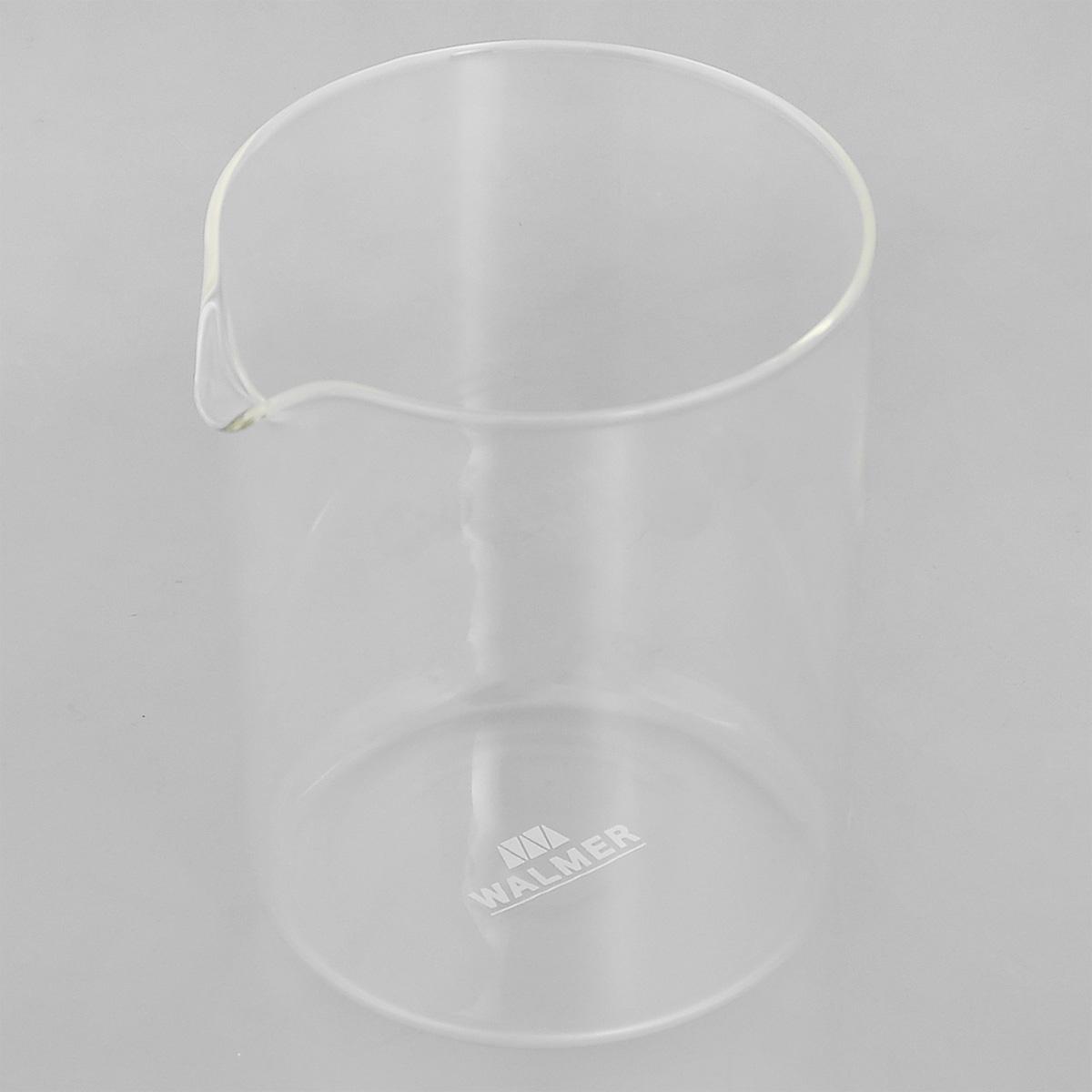 Колба для кофейников Walmer, 500 млW0400105Колба Walmer, изготовленная из высококачественного прозрачного стекла, предназначена для кофейников и френч-прессов. Изделие прекрасно подойдет для замены старой разбитой колбы. Это сосуд, который напрямую контактирует с напитком, поэтому он должен быть выполнен из качественных материалов. Изделие выдерживает высокие температуры и не мутнеет при многократном мытье. Данная колба прослужит вам надежно и долго.Можно мыть в посудомоечной машине.Диаметр: 9,5 см.Высота: 12,5 см.Объем: 500 мл.