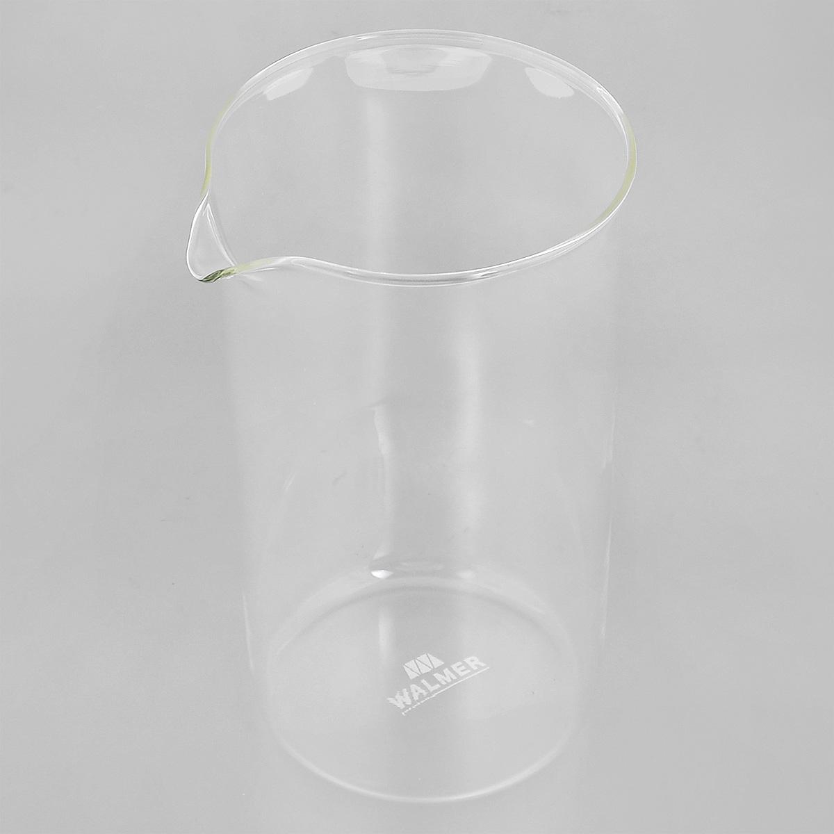 Колба для кофейников Walmer, 1 лW04001100Колба Walmer, изготовленная из высококачественного прозрачного стекла, предназначена для кофейников и френч-прессов. Изделие прекрасно подойдет для замены старой разбитой колбы. Это сосуд, который напрямую контактирует с напитком, поэтому он должен быть выполнен из качественных материалов. Изделие выдерживает высокие температуры и не мутнеет при многократном мытье. Данная колба прослужит вам надежно и долго.Можно мыть в посудомоечной машине.Диаметр: 10 см.Высота: 18 см.Объем: 1 л.
