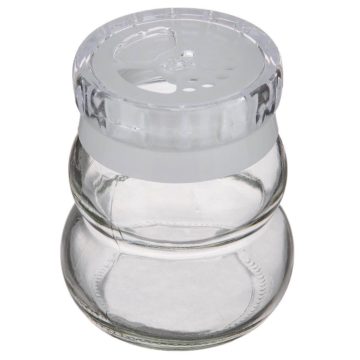 Банка для специй Herevin, цвет: белый, 200 мл131007-000Банка для специй Herevin выполнена из прозрачного стекла и оснащена пластиковой цветной крышкой с отверстиями разного размера, благодаря которым, вы сможете приправить блюда, просто перевернув банку. Крышка снабжена поворотным механизмом, благодаря которому вы сможете регулировать степень подачи специй. Крышка легко откручивается, благодаря чему засыпать приправу внутрь очень просто. Такая баночка станет достойным дополнением к вашему кухонному инвентарю. Можно мыть в посудомоечной машине.Объем: 200 мл.Диаметр (по верхнему краю без учета крышки): 4 см.Высота банки (без учета крышки): 7,5 см.