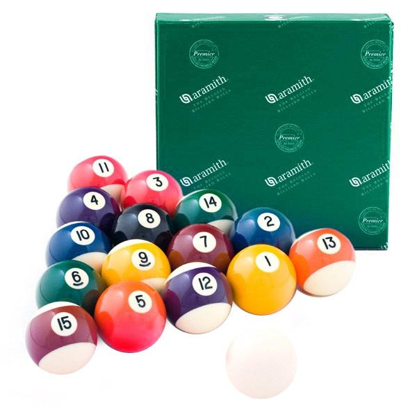Шары бильярдные Aramith Pool Premier, 57,2 мм шары aramith pool premier d57 2 мм