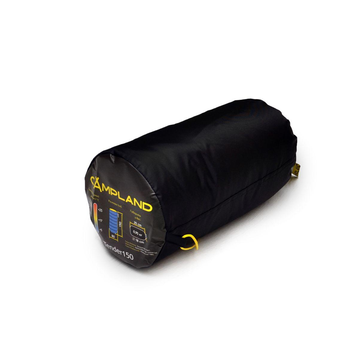 Спальный мешок Campland Tender 150, левостороняя молния, 190 см х 80 см спальник campland tender 250