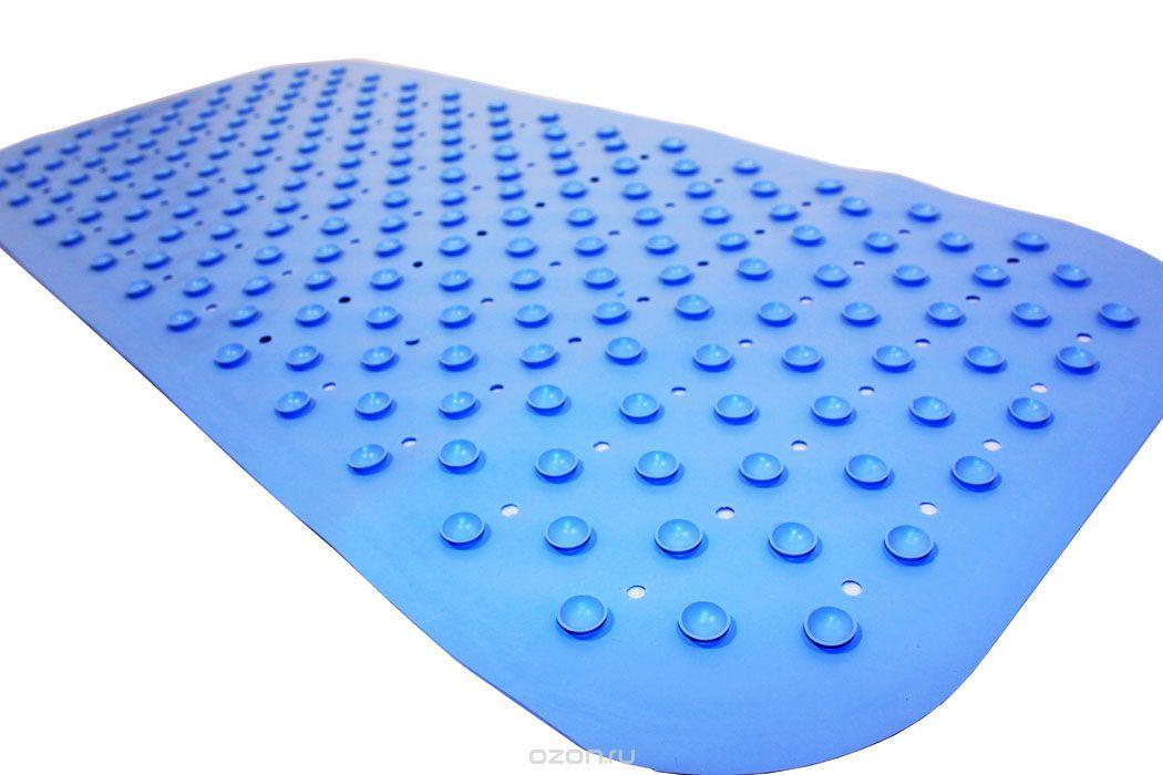 Антискользящий коврик Roxy-kids для ванны, цвет: голубой, 34,5 см х 76 смBM-34576_голубойПротивоскользящий коврик для ванны создан специально для детей и призван обеспечить комфортное и безопасное купание малышей в ванне. Он обладает целым рядом важных преимуществ.Мягкие присоски надежно прикрепляют коврик ко дну ванны и не дают ему скользить по ее поверхности, как бы активно ни двигался малыш. Специальное покрытие препятствует скольжению ног или тела ребенка по коврику. Поверхность коврика имеет рельефные элементы, обеспечивающие массажные функции, благодаря которым купание малыша в ванне станет не только простым и безопасным, но еще и полезным! Специальные отверстия позволяют воде легко стекать и обеспечивают более надежное крепление коврика к поверхности ванны.Оптимальный размер коврика 34 на 74 см делает его доступным для использования в любых ваннах, как в обычных больших, так и в детских ванночках и мини-бассейнах.Коврик выполнен в жизнерадостном салатовом цвете - он станет не только отличным помощником вам и вашему малышу, но и стильным аксессуаром!Антискользящие коврики для ванны сделаны из 100%-но натуральной резины без применения токсичного сырья. Резиновые коврики на присосках полностью соответствует всем требованиям безопасности детской продукции: ГОСТ 25779-90, СанПин 2.4.7.007-93, Европейским стандартам качества EN71.
