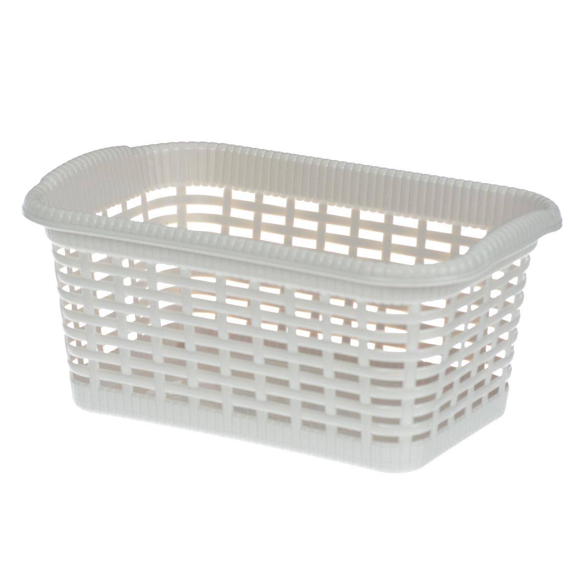 Корзина хозяйственная Gensini, цвет: светло-бежевый, 29 x 18,5 x 13,5 см3301_светло-бежевыйУниверсальная корзина Gensini, выполненная из пластика, предназначена для хранения мелочей в ванной, на кухне, даче или гараже. Позволяет хранить мелкие вещи, исключая возможность их потери. Легкая воздушная корзина выполнена под плетенку и оснащена жесткой кромкой.Размер: 29 см x 18,5 см x 13,5 см. Объем: 7 л.
