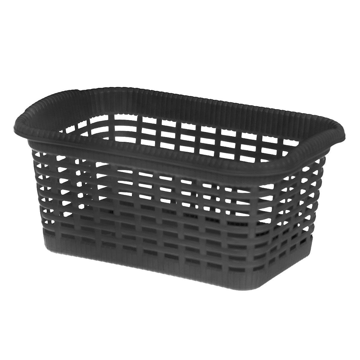 """Универсальная корзина """"Gensini"""", выполненная из пластика, предназначена для хранения мелочей в ванной, на кухне, даче или гараже. Позволяет хранить мелкие вещи, исключая возможность их потери. Легкая воздушная корзина выполнена """"под плетенку"""" и оснащена жесткой кромкой.Размер: 29 см x 18,5 см x 13,5 см. Объем: 7 л."""