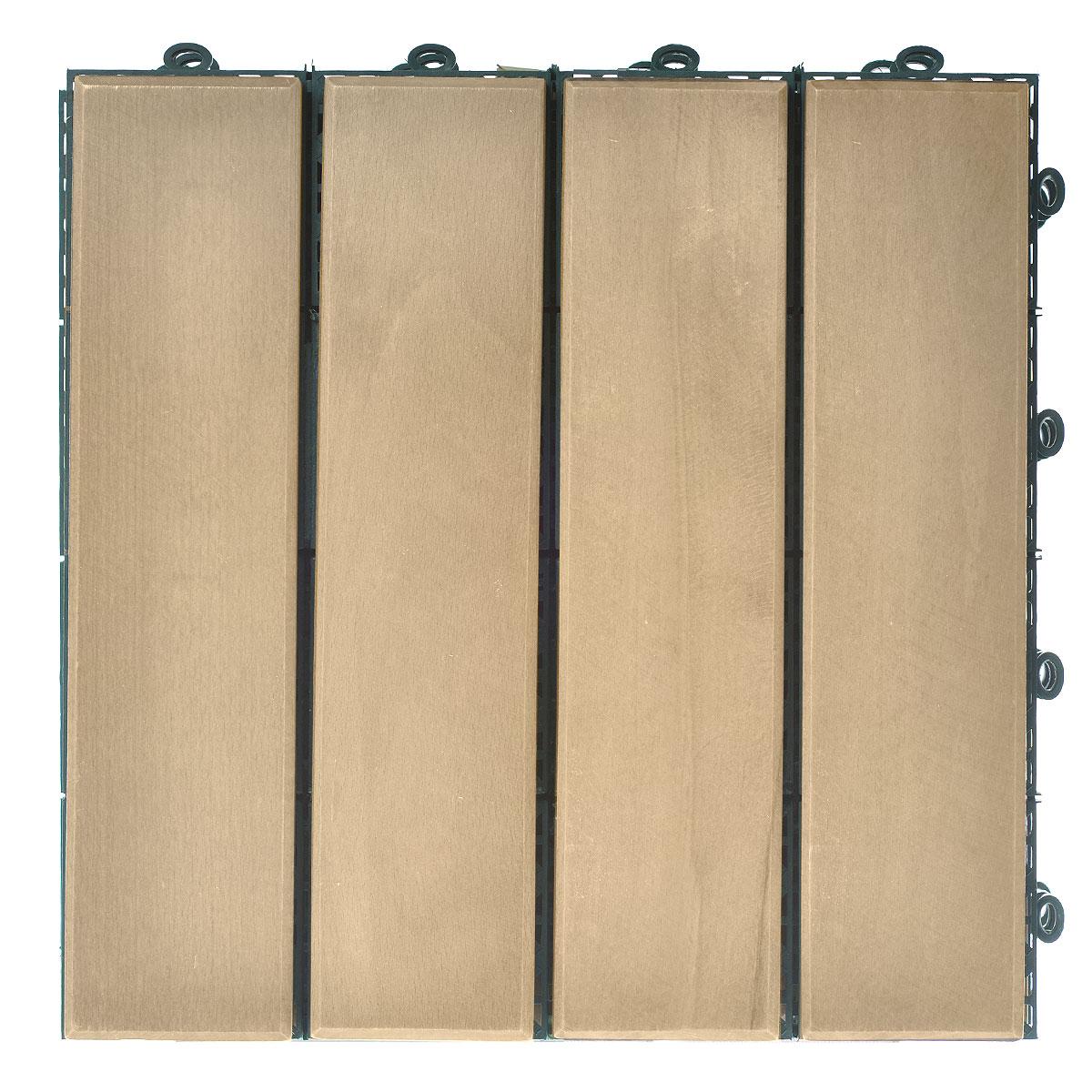 Покрытие Konex Декинг, цвет: бук, 30 см х 30, 4 штПД-БПокрытие Konex Декинг состоит из 4 секций, изготовленных из высококачественного дерева, основа выполненаиз полипропилена.Покрытие предназначено для создания дополнительного (отделочного) слоя пола в различных помещенияхбытового и хозяйственного назначения (коридоры, веранды, сауны и бани, ванные комнаты, балконы), а также длябыстрого обустройства открытых площадок и дорожек (спортивные и детские площадки, зоны отдыха, садовыедорожки, террасы, палубы, причалы, бассейны) на подготовленных площадях. Размер секции: 30 см х 30 см х 3 см. Количество секций: 4 шт.