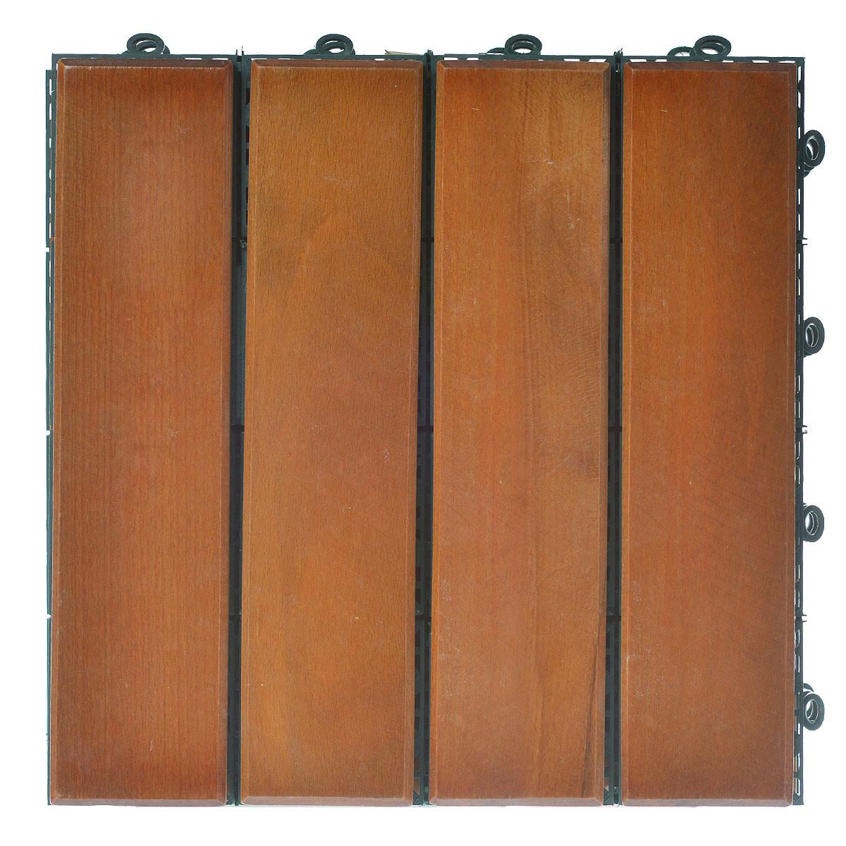 Покрытие Konex Декинг, цвет: дуб, 30 см х 30, 4 шт. ПД-ДПД-ДПокрытие Konex Декинг состоит из 4 секций, изготовленных из высококачественного дерева, основа выполнена из полипропилена.Покрытие предназначено для создания дополнительного (отделочного) слоя пола в различных помещениях бытового и хозяйственного назначения (коридоры, веранды, сауны и бани, ванные комнаты, балконы), а также длябыстрого обустройства открытых площадок и дорожек (спортивные и детские площадки, зоны отдыха, садовые дорожки, террасы, палубы, причалы, бассейны) на подготовленных площадях. Размер секции: 30 см х 30 см х 3 см. Количество секций: 4 шт.