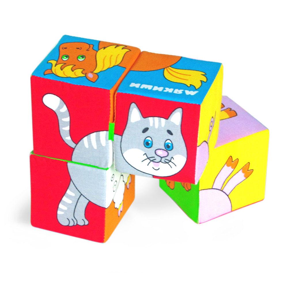 Мякиши Кубики Собери картинку Домашние животные кубики мякиши животные 2 236