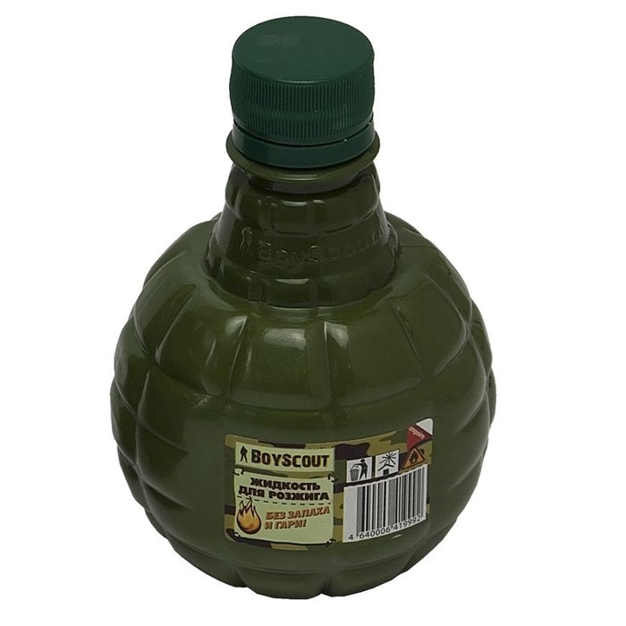 Жидкость для розжига Boyscout, парафиновая, 0,25 л61035Парафиновая жидкость Boyscout предназначена для розжига древесного угля, дров, топливных брикетов. Не имеет запаха и гари.