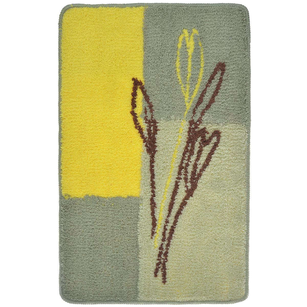 Коврик для ванной комнаты  Fresh Code , цвет: зеленый, желтый, 80 х 50 см - Коврики