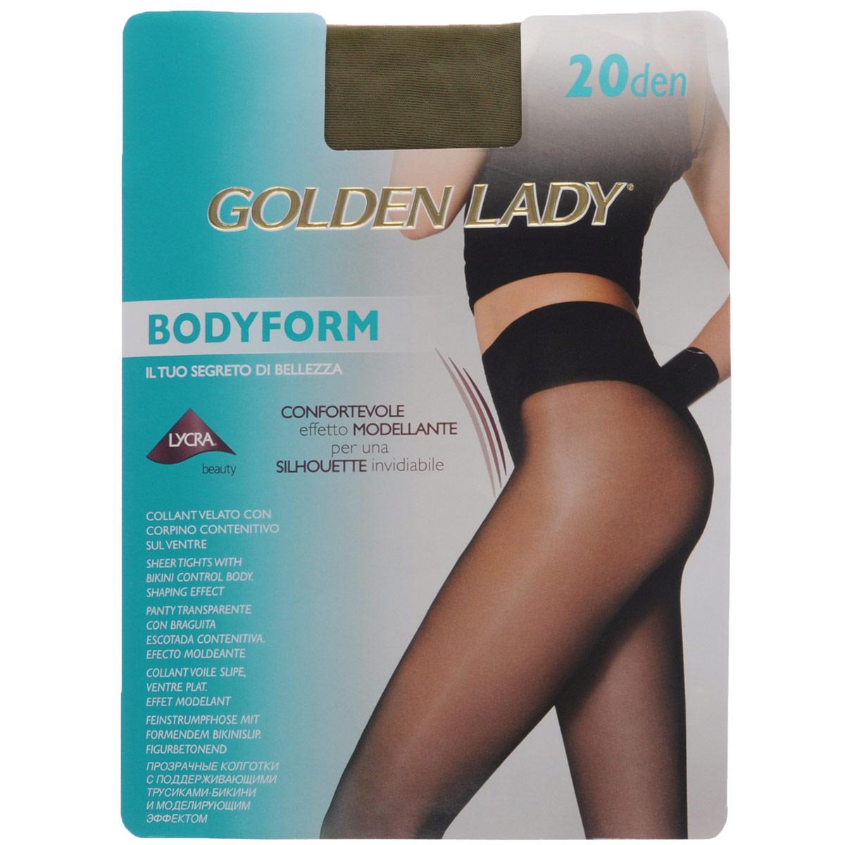 Колготки женские Golden Lady Bodyform 20, цвет: Daino (бледно-коричневый). 39NVN. Размер 3 (M) цены онлайн