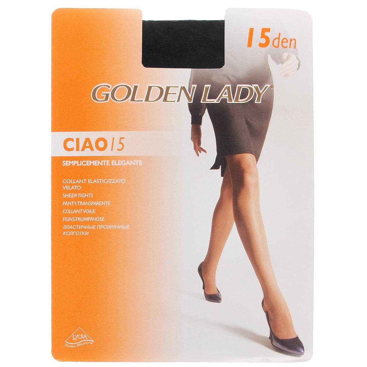 Колготки женские Golden Lady Ciao 15, цвет: Nero (черный). 36N-UR. Размер 3 (M) колготки женские golden lady bikini slim 40 цвет nero черный 122lll размер 4 l