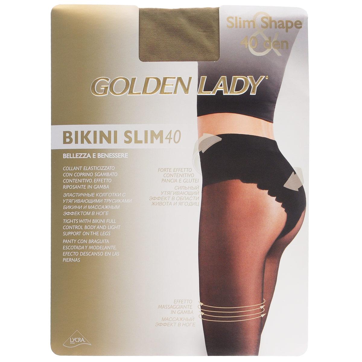Колготки женские Golden Lady Bikini Slim 40, цвет: Melon (телесный). 122LLL. Размер 3 (M) цены онлайн