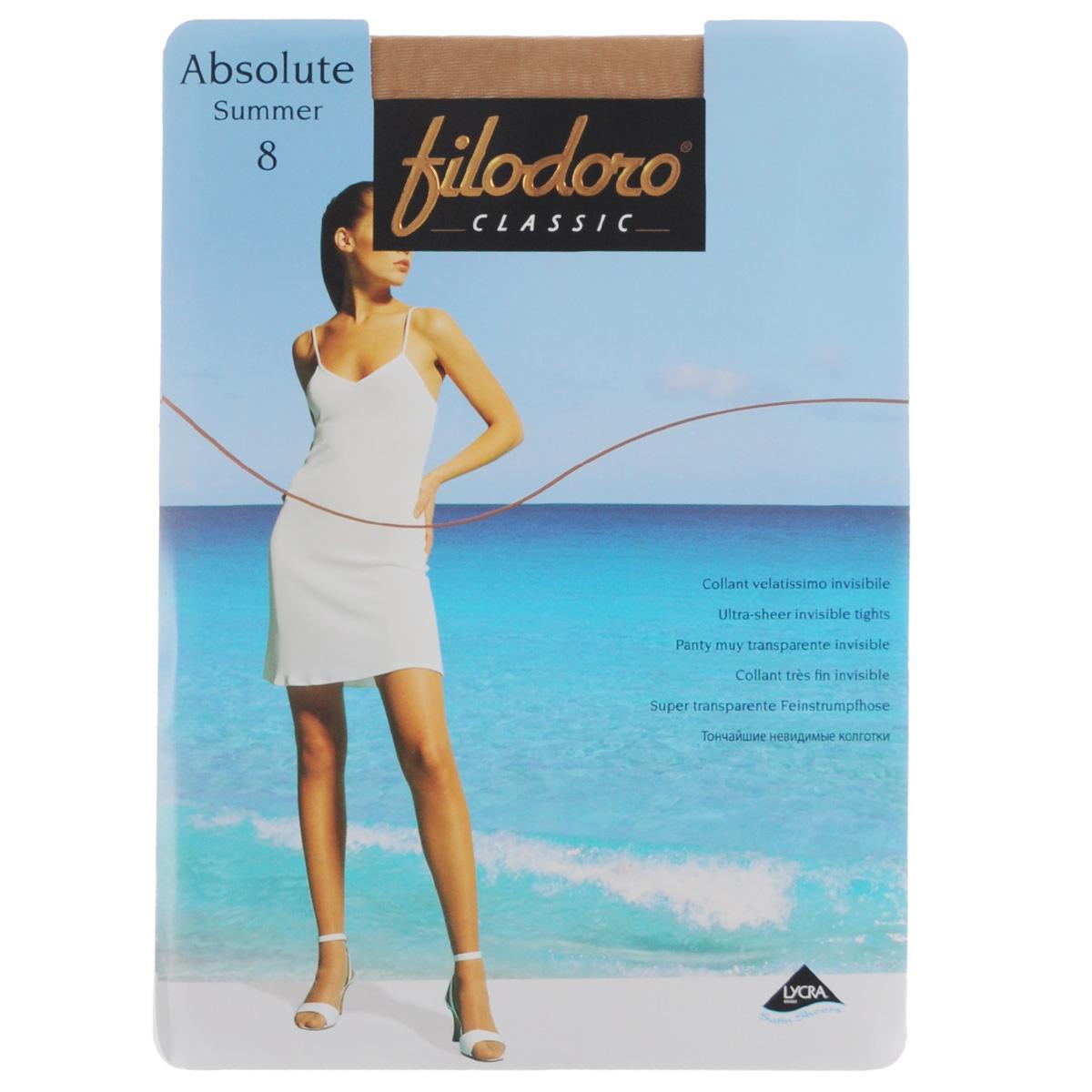 Колготки женские Filodoro Classic Absolute Summer 8, цвет: Tea (легкий загар). C109155FC. Размер 3 (M) absolute keramika tea 02 fosker a 10x30
