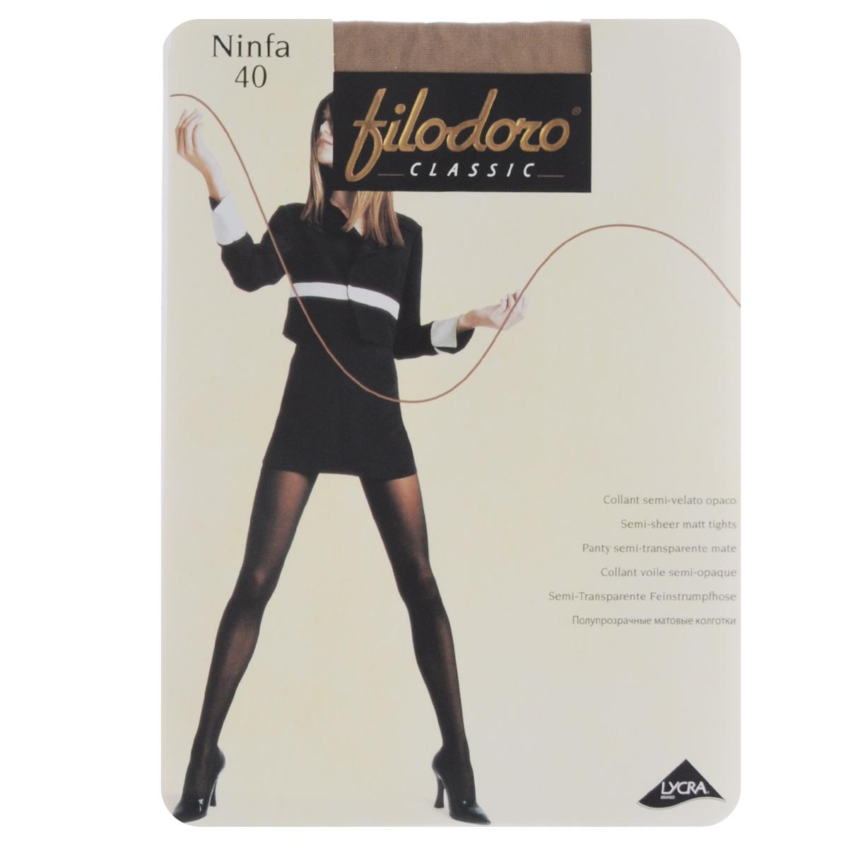 Колготки женские Filodoro Classic Ninfa 40, цвет: Playa (телесный). C115059FC. Размер 5 (Maxi-XL) колготки женские filodoro classic ninfa 20 цвет nero черный c109172fc размер 2 s