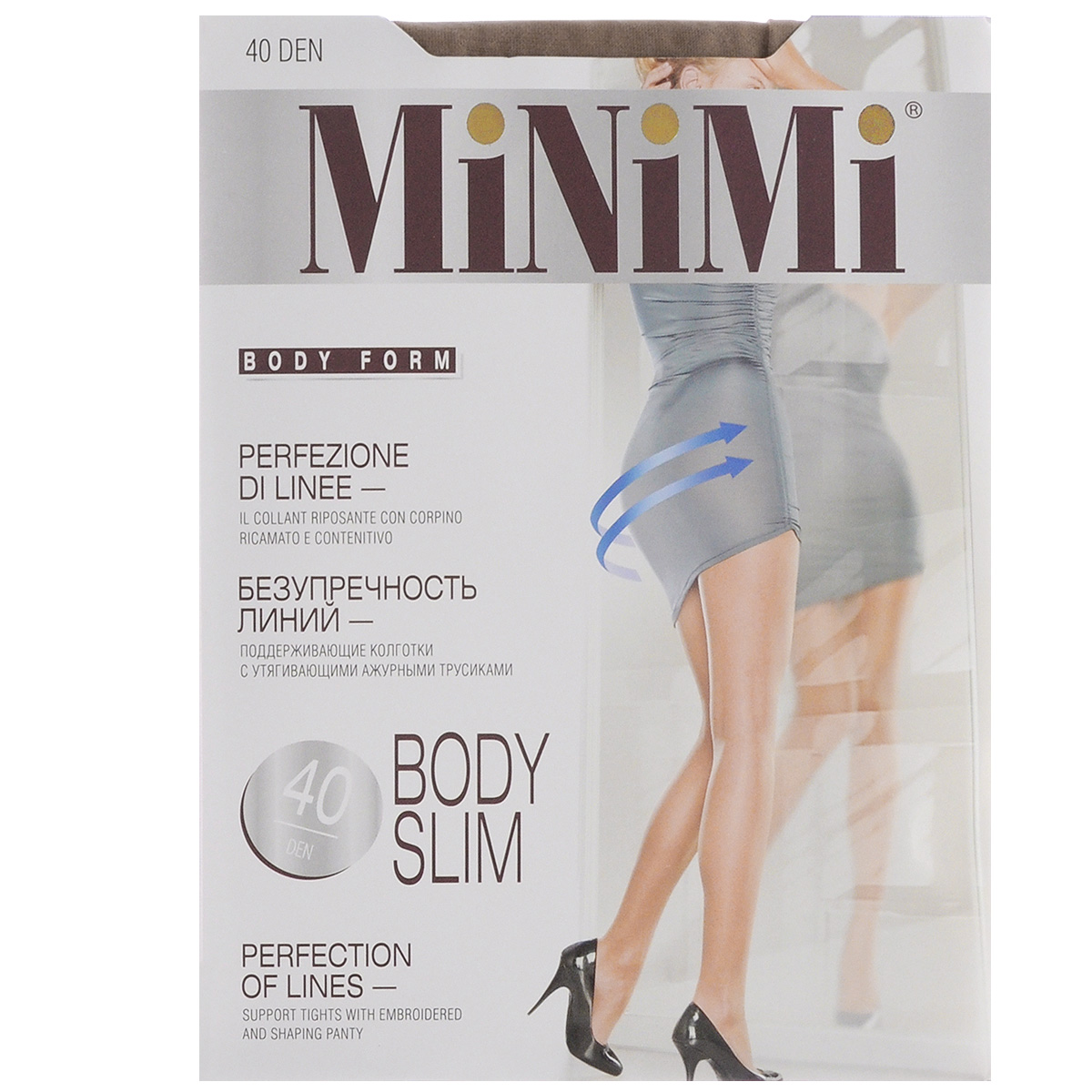 Колготки женские Minimi Body Slim 40, цвет: Daino (загар). Размер 3 (M) колготки giulia bikini размер 3 плотность 40 den daino