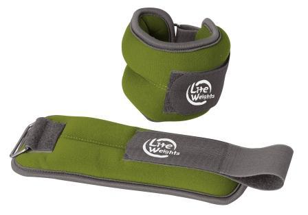 Утяжелители  Lite Weights  для рук и ног, цвет: зеленый, 2 шт х 0,5 кг - Фитнес