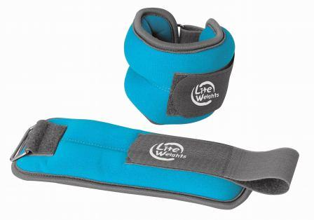 Утяжелители  Lite Weights  для рук и ног, цвет: голубой, 2 шт х 1 кг - Фитнес