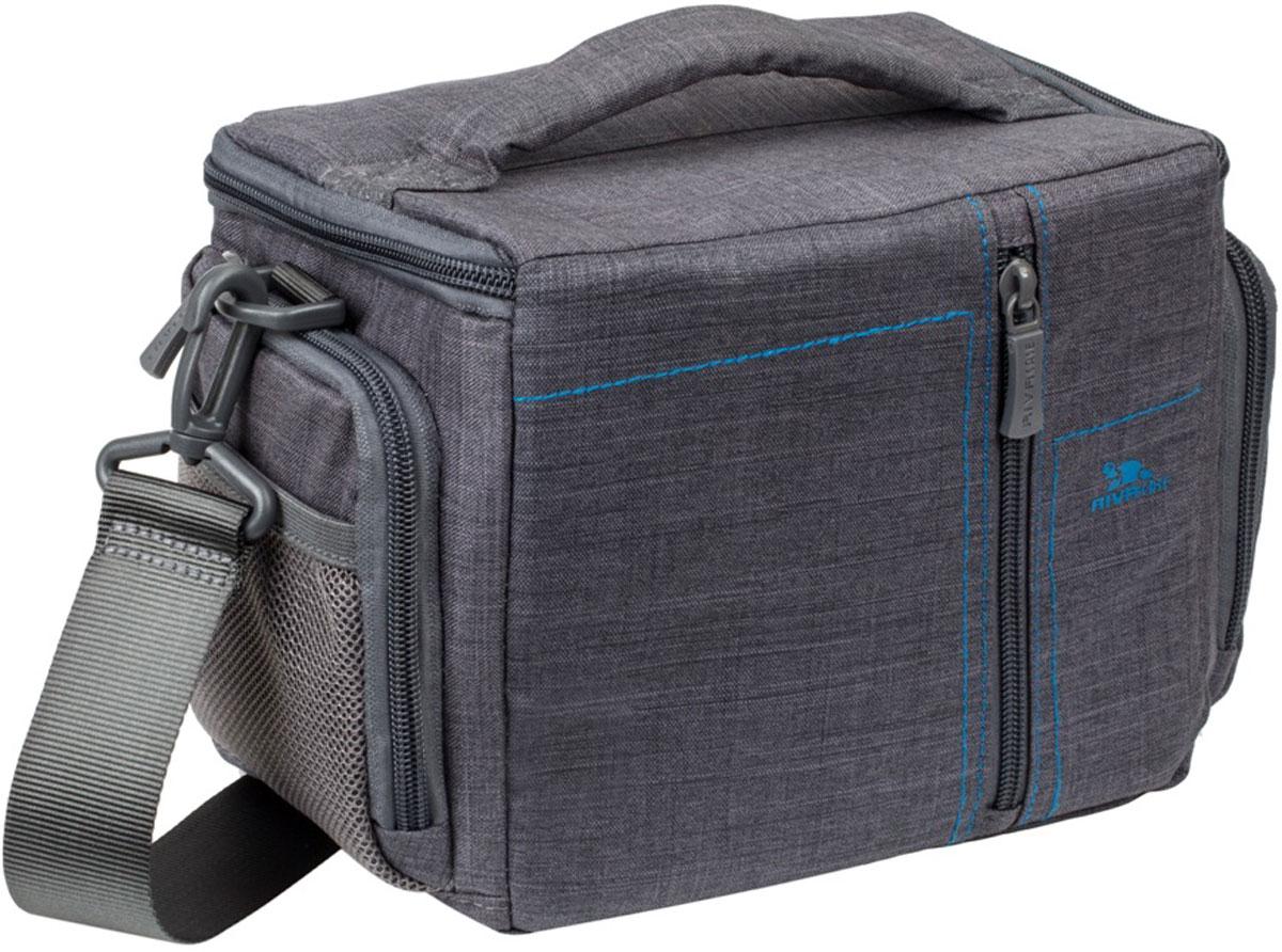 Riva 7502 SLR Canvas Case, Grey сумка для зеркальной фотокамеры
