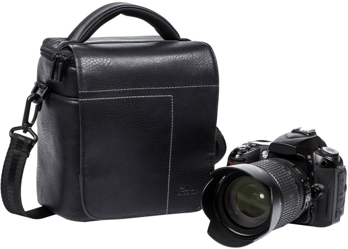 Riva 7612 SLR Case, Black сумка для зеркальной фотокамеры6584Сумка для зеркальной фотокамеры с установленным объективом Riva 7612 SLR Case из высококачественной искусственной кожи имеет верхний откидной клапан на магните, который закрывает основное отделение на молнии.Внутренние передвижные перегородки позволят удобно разместить дополнительный объектив, вспышку. Два внутренних кармана служат для хранения аксессуаров и карт памяти, как и два дополнительных наружных кармана. Для переноски предусмотрены регулируемый наплечный ремень с мягкой накладкой и удобная ручка.