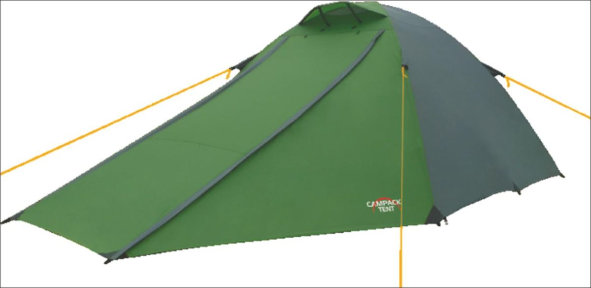 Палатка Campack Tent Forest Explorer 3, цвет: зеленый, серый палатка трехместная campack tent breeze explorer 3