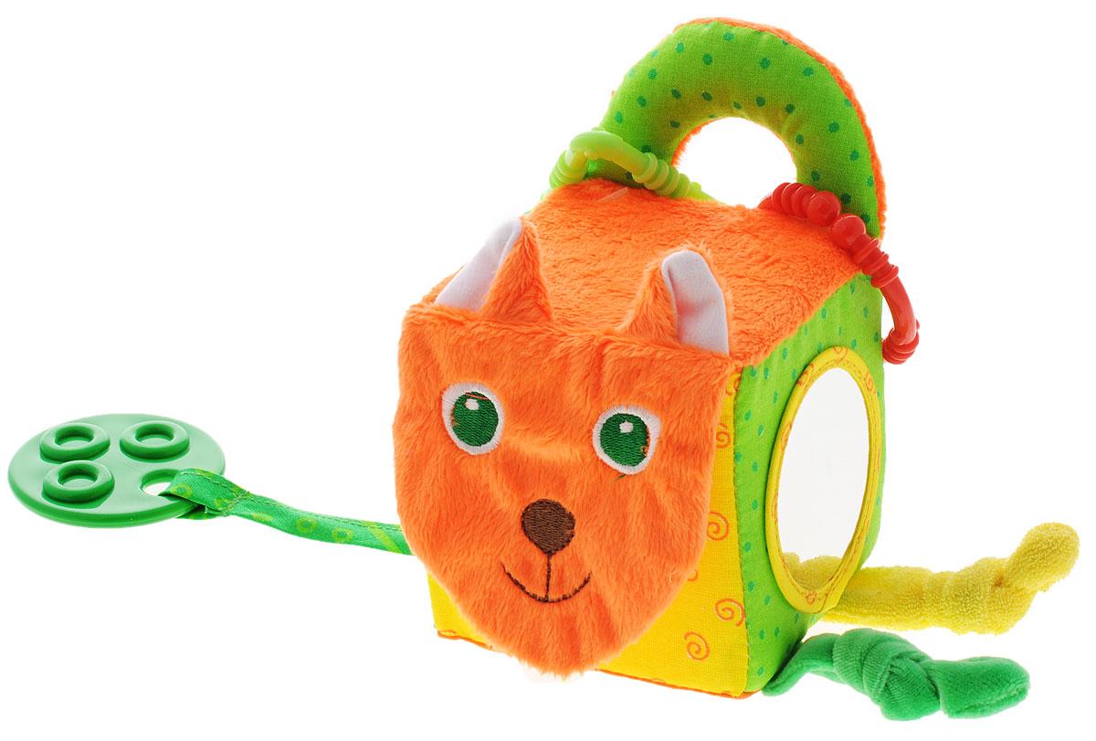 Мякиши Мягкая развивающая игрушка Кубик лиса игрушка развивающая мякиши книжка мягкая кошки мышки