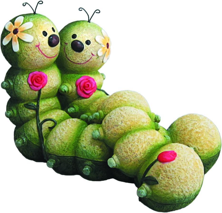 Фигурка садовая Green Apple Гусеницы, 31 х 19 х 21 смGA200-12Садовая фигурка Green Apple Гусеницы, выполненная из полистоуна, предназначена для ландшафтного дизайна садового участка. Садовое пространство станет более доброжелательным и интересным. Фигурка приятно разнообразит садовый участок, а также сможет произвести деление участка на зоны.Размер: 31 х 19 х 21 см.