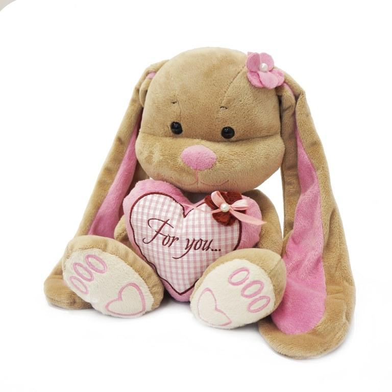 Jack & Lin Мягкая игрушка Зайка Лин с сердцем 25 см rong lin