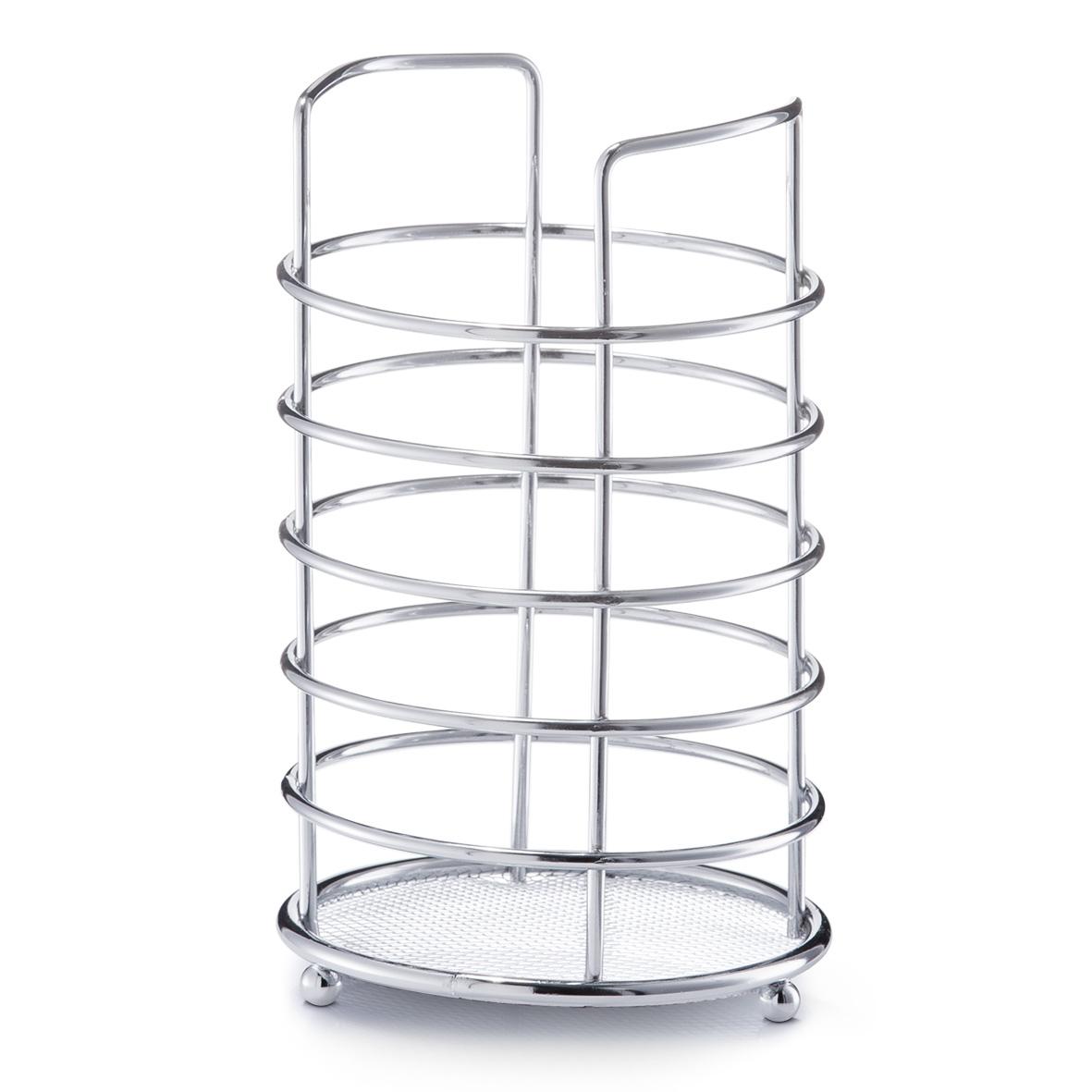 Подставка для кухонных принадлежностей Zeller, высота 17,5 см24869Подставка Zeller предназначена для удобного хранения и перемещения кухонных принадлежностей. Подставка выполнена из высококачественного металла. Каждая хозяйка знает, что подставка для кухонных принадлежностей - это незаменимый и очень полезный аксессуар на каждой кухне.Диаметр подставки (по верхнему краю): 11 см. Высота подставки: 17,5 см.
