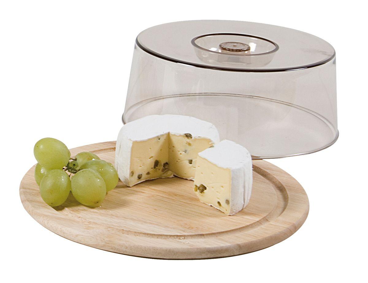 Колпак для хлеба и сыра Kesper, диаметр 23 см6664-1Колпак Kesper предназначен для хранения хлеба и сыра. Он поможет продуктам дольше оставаться свежими и не заветриться. Основание колпака выполнено из дерева, верх из нетоксичного пластика.
