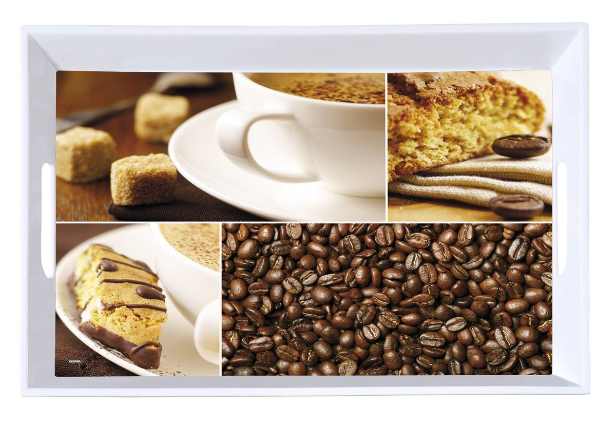 "Фото Поднос с ручками Kesper ""Coffee Time"", 50 см х 35 см"
