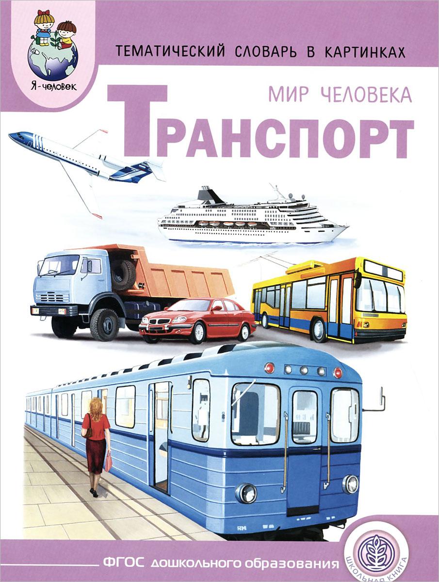 Мир человека. Транспорт. Тематический словарь в картинках