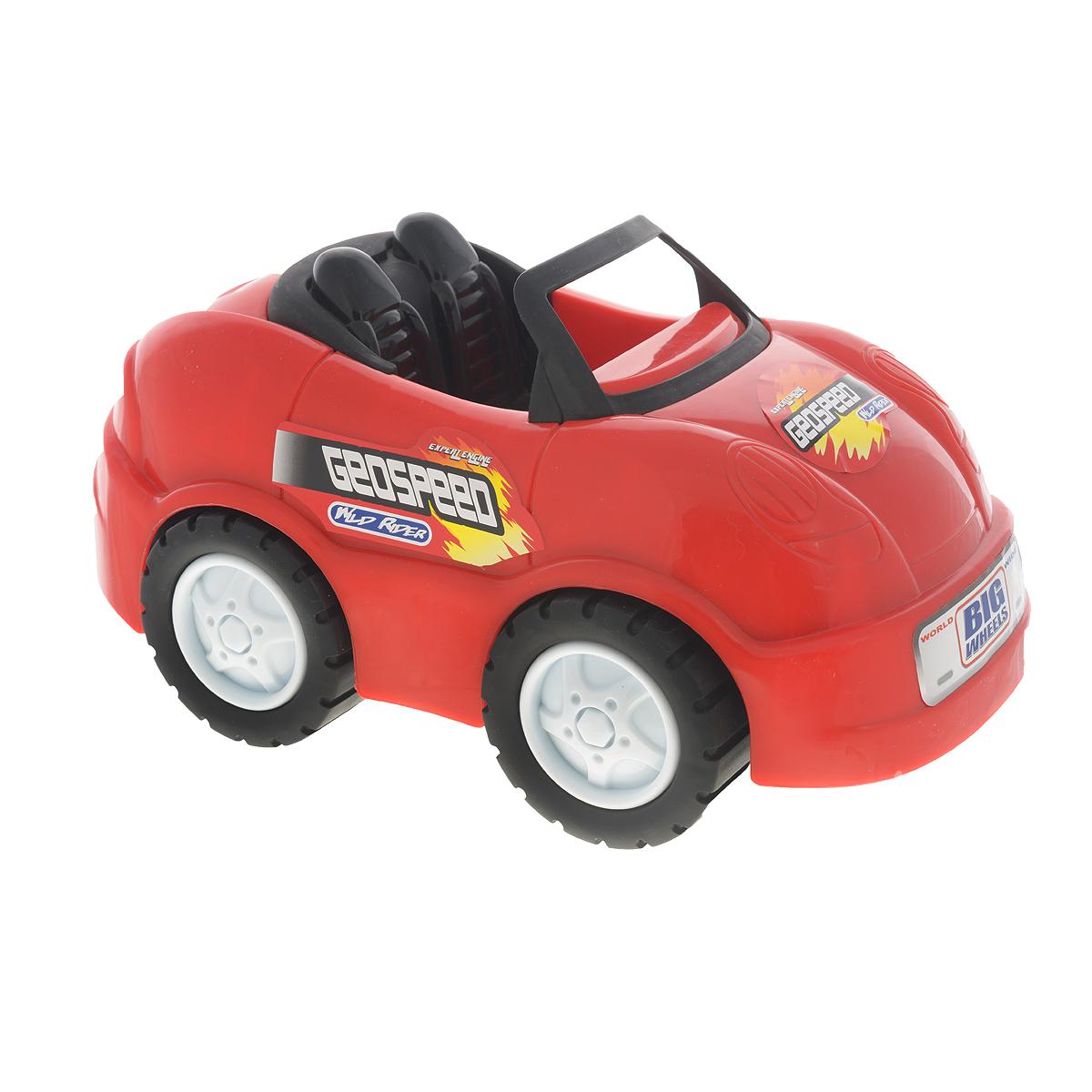 Keenway Машинка Big Wheels цвет красный машинки keenway подъемный кран
