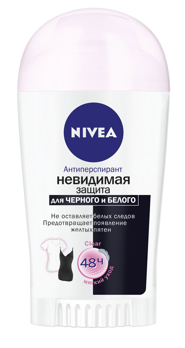 "NIVEA Антиперспирант стик ""Невидимая защита для черного и белого"" Clear 40 мл"