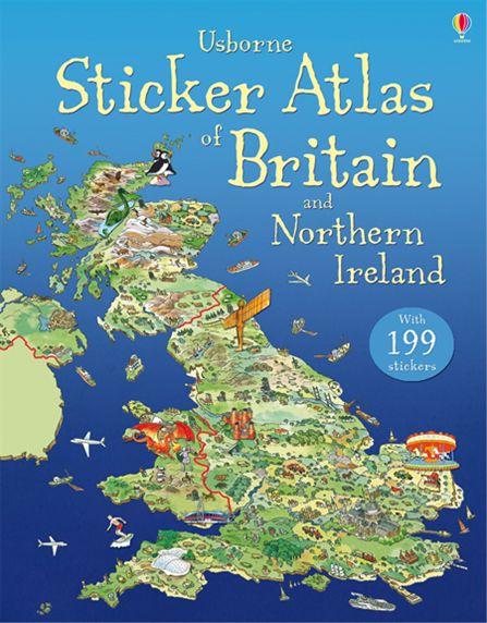 Usborne Sticker Atlas of Britain and Northern Ireland (+ 199 стикеров) psychotherapeutic treatment of trauma in northern ireland